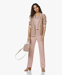 ba&sh Ceran Suede Leather Sandals - Camel