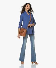 Belluna Kara Open Cardigan with Shawl Collar - Blue