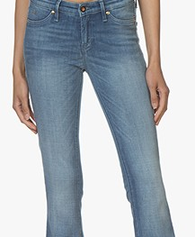 Denham Farrah Super Flare Fit Jeans - Blue