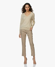 Filippa K Merino V-neck Sweater - Sahara