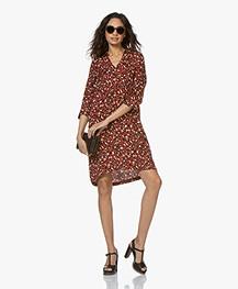 MKT Studio Raphael Leopard Printed Shirt Dress - Red