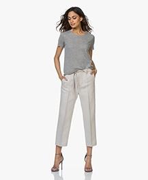 Majestic Filatures Fine Knit Cashmere T-shirt - Grey Melange
