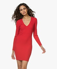 Rag & Bone Brea Knitted Dress - Red