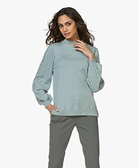 Ragdoll LA Cotton Sweater with Braided Details - Pale Blue