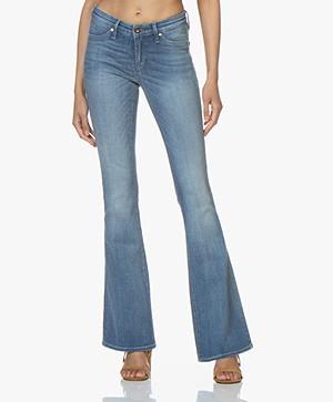 Denham Farrah Super Flare Fit Jeans - Blauw