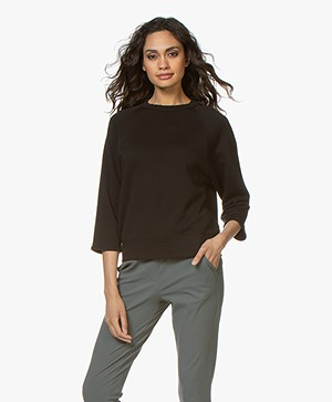 Filippa K Soft Sport Mid Sleeve Sweater - Zwart