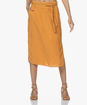 Josephine & Co Carlos Linnen Rok - Golden Yellow