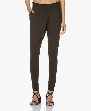 Woman By Earn Earn Tapered Tech Jersey Pants - Black
