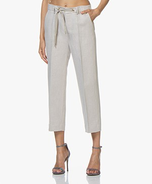 Zadig & Voltaire Pete Spark Cropped Pants - Beige