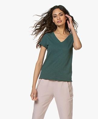 American Vintage Sonoma Slub Jersey T-shirt - Plains
