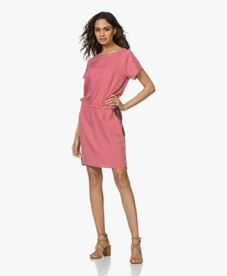 BY-BAR Silly Nakai Lyocell Dress - Flamingo Pink