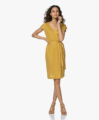 BY-BAR Sofia Linen Jersey Dress - Honey Bee