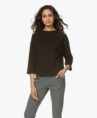 Filippa K Soft Sport Mid Sleeve Sweater - Black