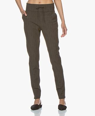 JapanTKY Yogi Travel Jersey Printed Pants - Linen