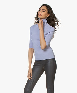 Filippa K Merino Elbow Sleeve Sweater - Hyacinth
