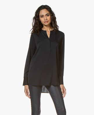 Filippa K Pull-on Silk Blouse - Navy
