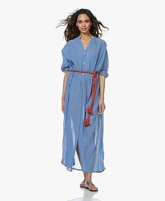 Mes Demoiselles Daniella Gauze Chambray Dress - Blue
