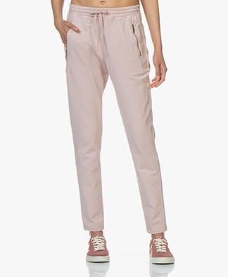 no man's land Cotton Garment-dyed Blend Sweatpants - Antique Rose