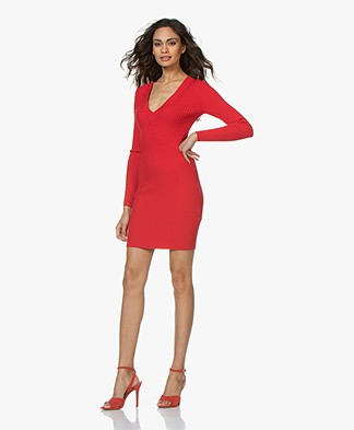 Rag & Bone Brea Knitted Dress - Red