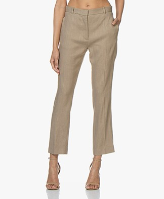 Joseph Zoom Linen Stretch Pants - Beige