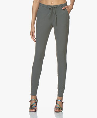 Woman By Earn Fae Tech Jersey Pants - Greyish Green