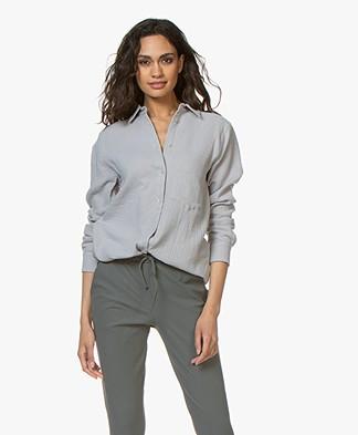 Woman by Earn Froukje Muslin Shirt - Grey