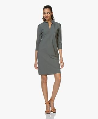 Woman by Earn Tara Tech Jersey Dress - Greyish Green