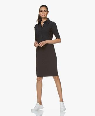 Woman by Earn Ellis Tech Jersey Polo Dress - Navy