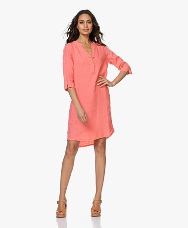 Josephine & Co Berry Linen Dress - Coral