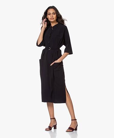 JapanTKY Agda Travel Jersey Shirt Dress - Black