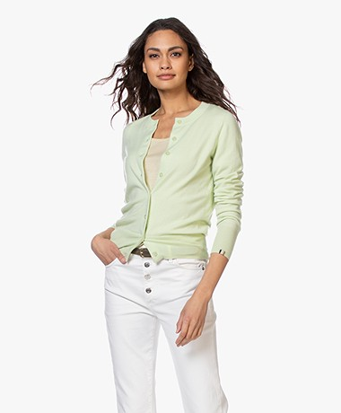 extreme cashmere N°94 Little Cashmere Cardi Cardigan - Lime