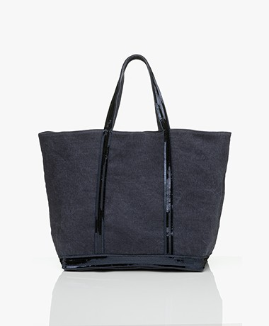 Vanessa Bruno Large Linen Shopper - Denim