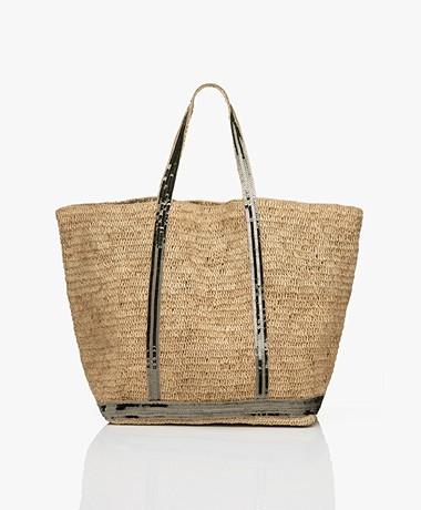 Vanessa Bruno Large Raffia Shopper - Naturel/Khaki