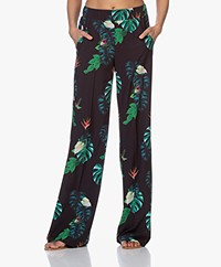 LaDress London Stretch Pants with Print - String Leaves