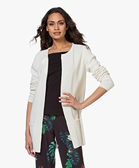 Sibin/Linnebjerg Mary Kort Vest in Merinomix - Off-white