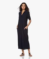 JapanTKY Yidel Travel Jersey Maxi Dress - Black Blue