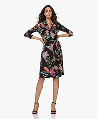 LaDress Penelope Travel Jersey Wikkeljurk met Print - Multi-color