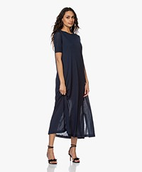 Drykorn Jannie Lyocell Maxi A-line Dress - Dark Blue
