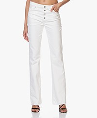 IRO Lecce Jean Flared Button-fly Jeans - Off-white