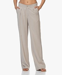 JapanTKY Yukana Tencel Pleated Pants - Sand