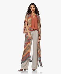 Mes Demoiselles Katha Maxi Kimono with Print - Multi-color