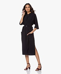 JapanTKY Agda Travel Jersey Shirt Dress - Black