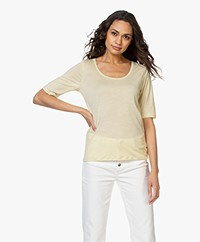 Filippa K Tencel Scoop Neck Tee - Faded Yellow