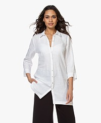 Belluna Jennifer Linen Tunic Blouse - White