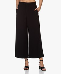 Filippa K Naia Cropped Wide-leg Pants - Black