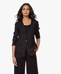 Equipment Hampton Jacquard Blazer with Stars - Black