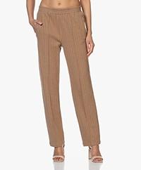 Rag & Bone Rylie Jersey Pinstripe Pants - Camel