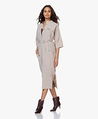 JapanTKY Agda Travel Jersey Shirt Dress - Sand