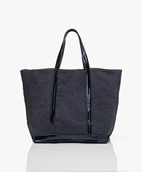 Vanessa Bruno Grote Linnen Shopper - Denim