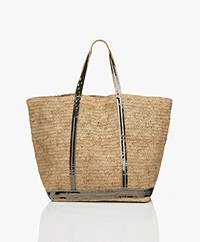 Vanessa Bruno Grote Raffia Shopper - Naturel/Kaki